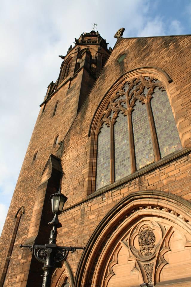 Gothic Belford Hostel in an old church in Edinburgh, Scotland