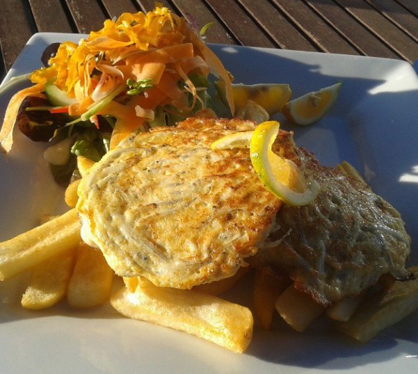 Whitebait fritters - Donaldo's at Carter's Beach, Westport