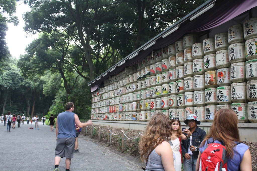 Just some sake barrels in the park, enroute to Meiji Shrine