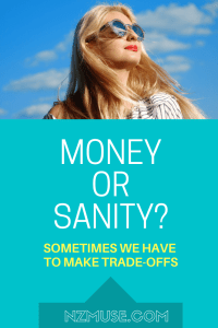 Money or sanity? When mental health overrides principles