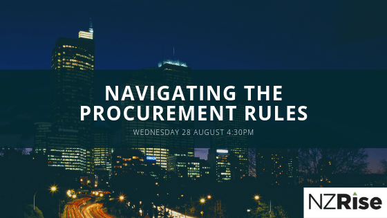 Event 28 August: 4th Edition of the Government Procurement Rules – What do they mean for NZ business?