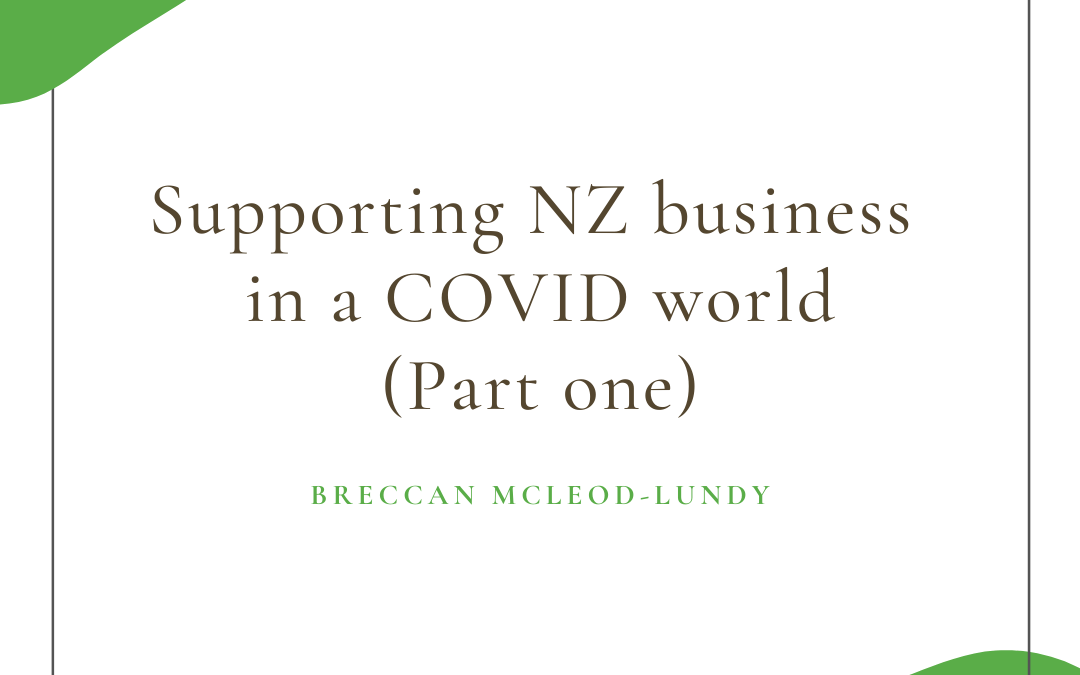 Supporting NZ Business in a COVID world (Part 1)