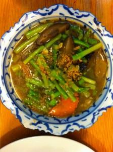 Stirred fried asparagus