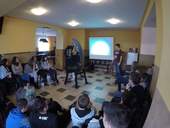 Uczestnicy SPreJ'a 2015 podczas szkolenia