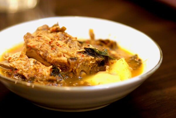 a bowl of Pork Rib Soup with Potatoes...