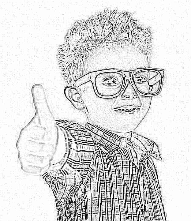 Цветы, картинки детей в очках смешные