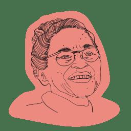 Illustrerad bild av Rosa Parks