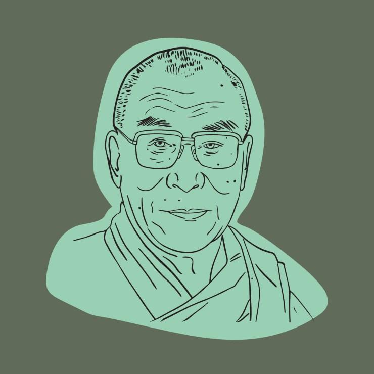 Länk till materialet och övningarna om Dalai lama