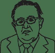 Illustrerad bild av Martti Ahtisaari