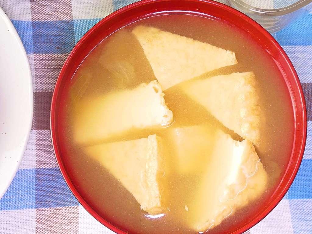 厚揚げのお味噌汁