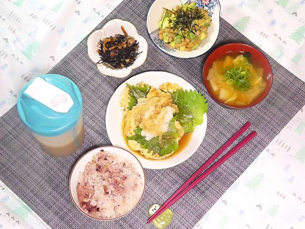 今日の夕ごはん おっさん特製鶏ミンチの豆腐ハンバーグ 19/11/07