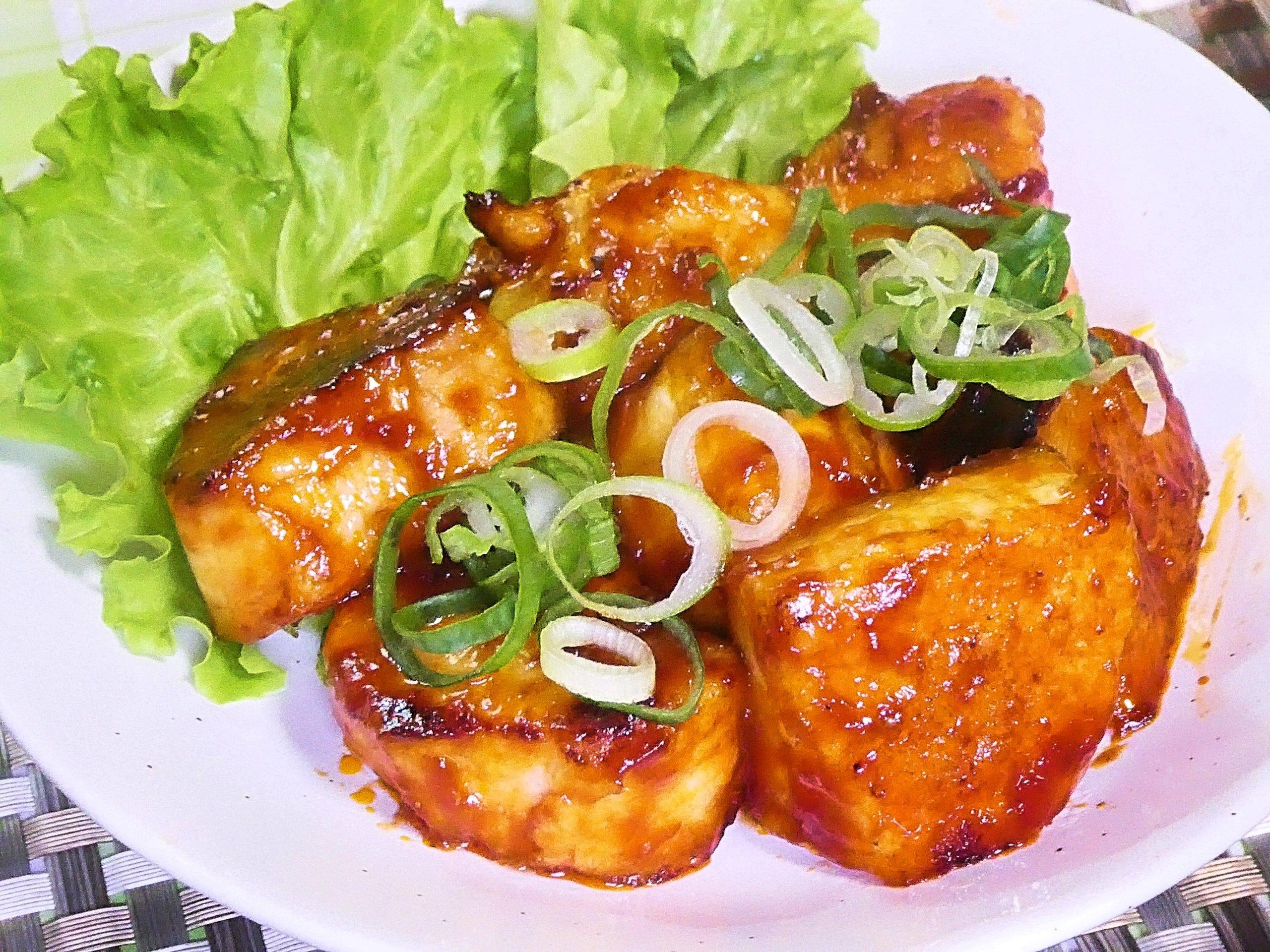 鶏胸肉のチリソース炒め