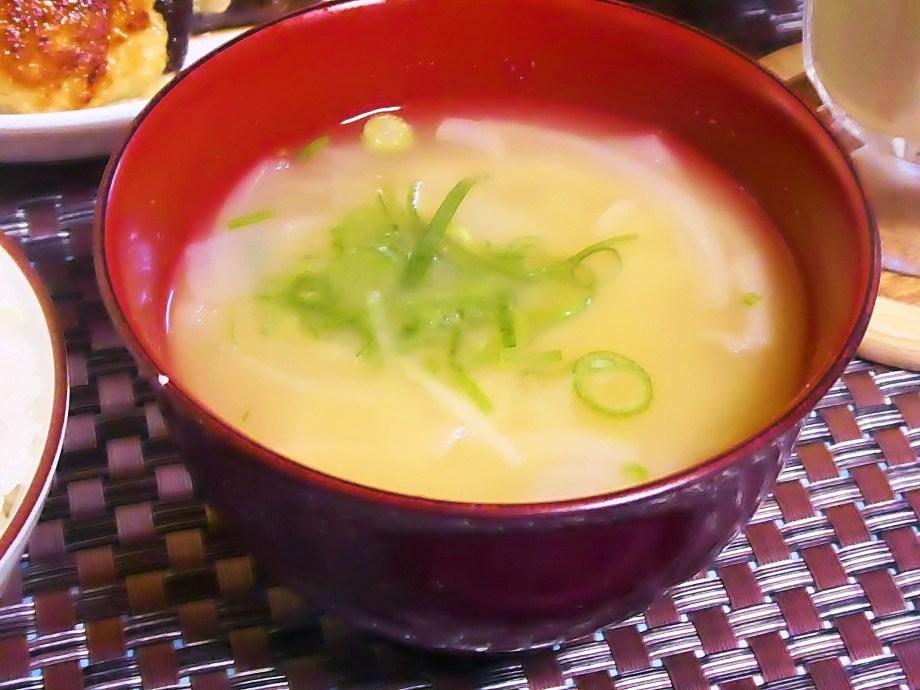玉ねぎのお味噌汁