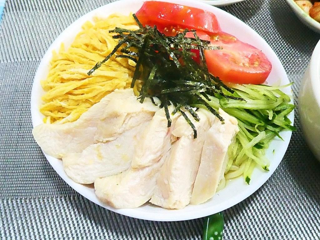 鶏胸肉の冷やし中華