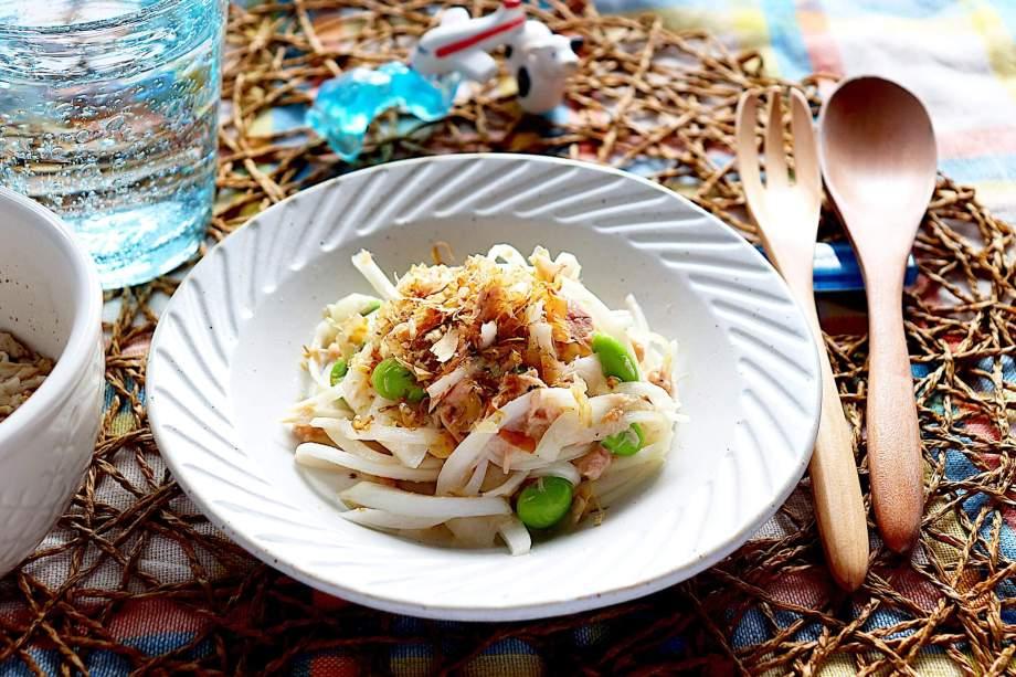 枝豆と新玉ねぎのツナサラダ