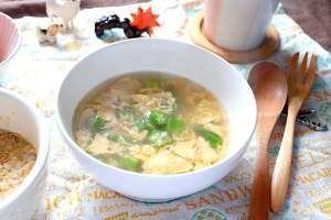 ツナとオクラのたまごスープ