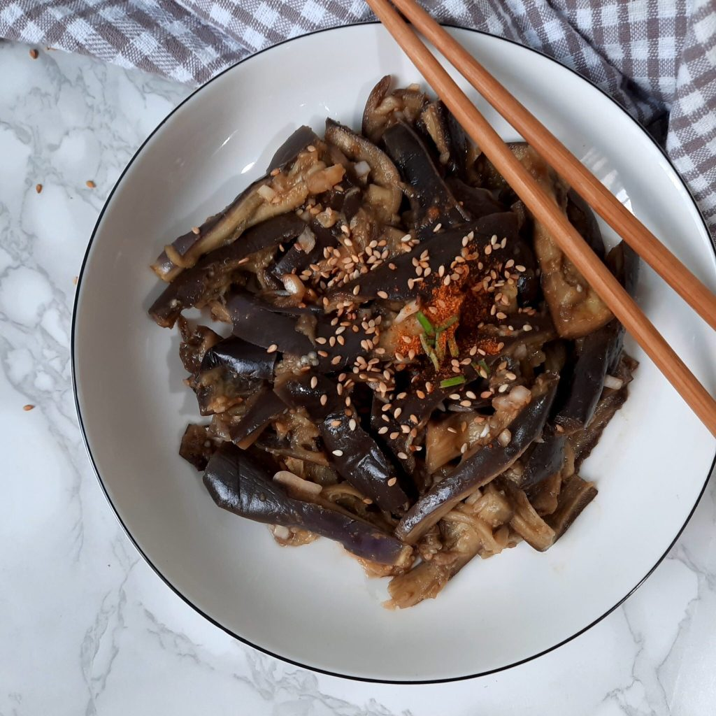 Gaji-namul – Steamed eggplant and soy sauce