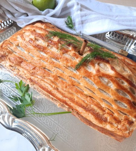 Russian Coulibiac of Salmon