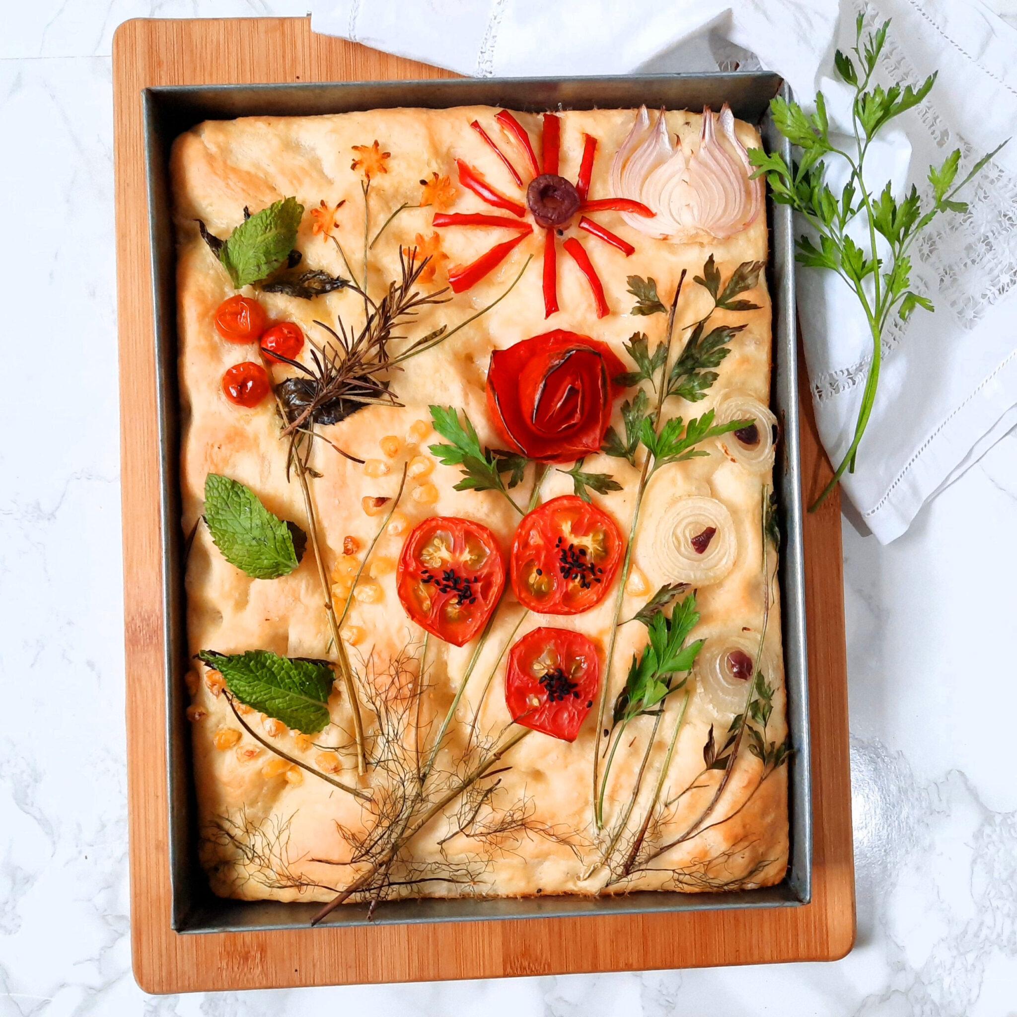 Focaccia: Italian bread