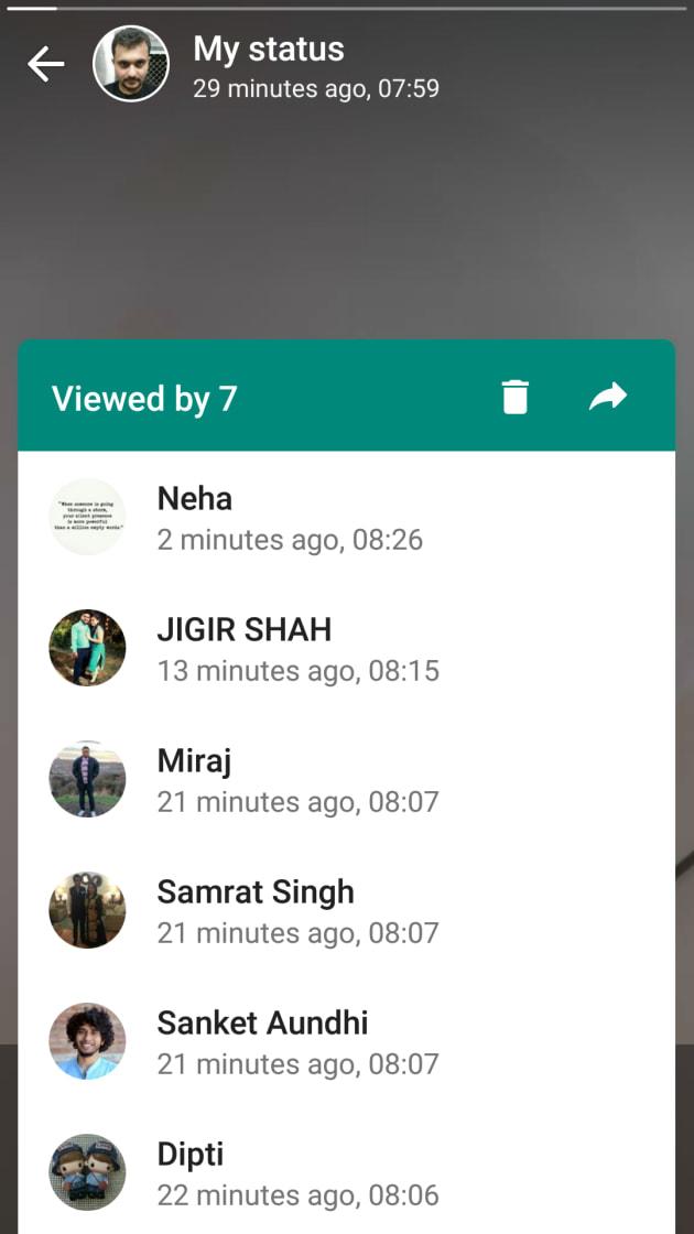 Image result for whatsapp new status update