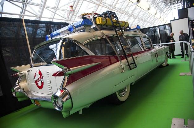 l'ambulance de Ghostbusters au salon de l'auto de Montréal 2014