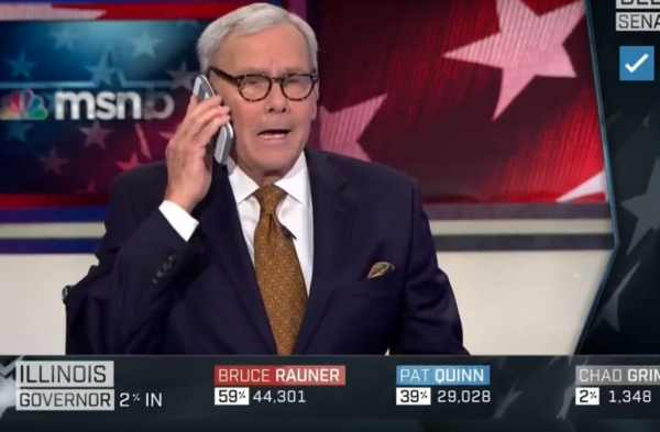 The moment NBC anchor Tom Brokaw's cellphone rings during ...