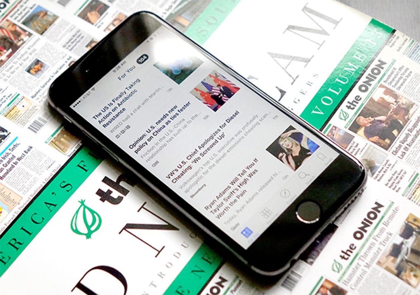 Apple non sa la gente sta usando le sue notizie app