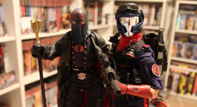 Cobra Commander and Viper from GI Joe