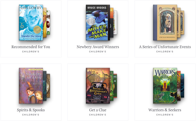 Oyster's children's books section