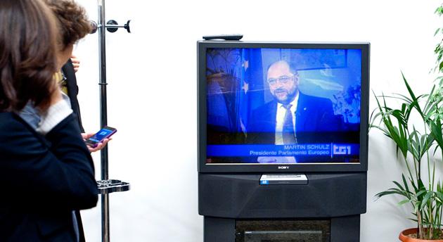 Watching European Parliament on Italy's RAI 1