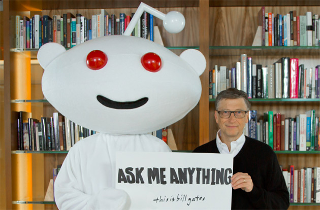 Bill Gates in his Reddit AMA