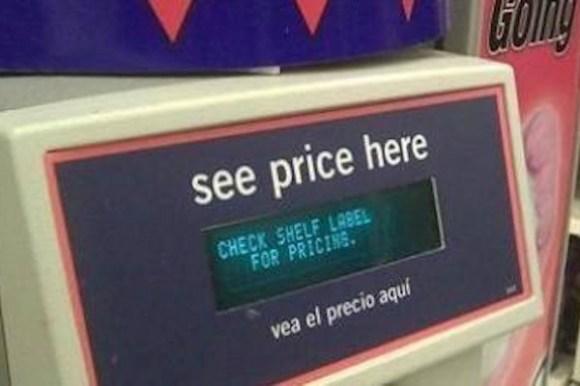 funny ironic photos, irony photos, ironic price check