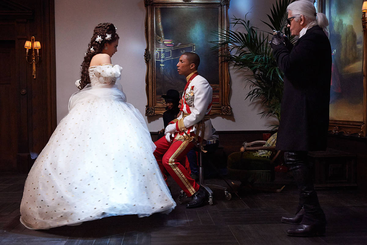 , Cara Delevingne and Pharrell Williams in Lagerfeld's Chanel Short-film