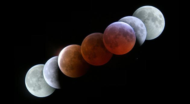 2007 lunar eclipse in timelapse form