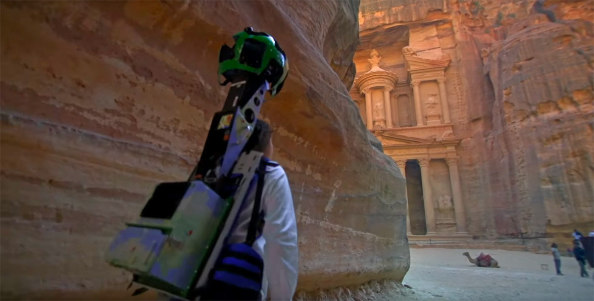 Google Street View visits the ancient city of Petra in Jordan