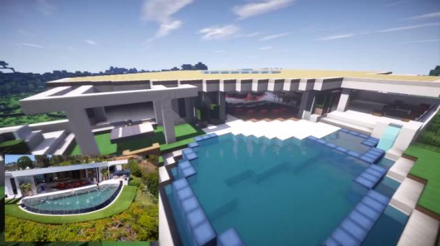 Palazzo della LA $70 milioni della tacca ricreato in Minecraft