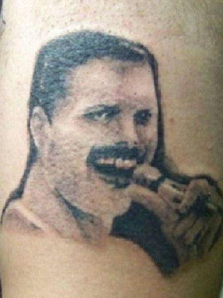 worst tattoos of celebrities, freddie mercury