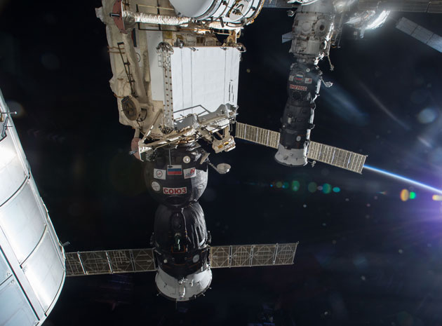Russia's Progress 47 supply ship docked to the ISS