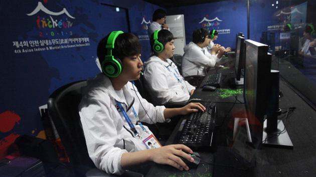 Team South Korea at a gaming tournament
