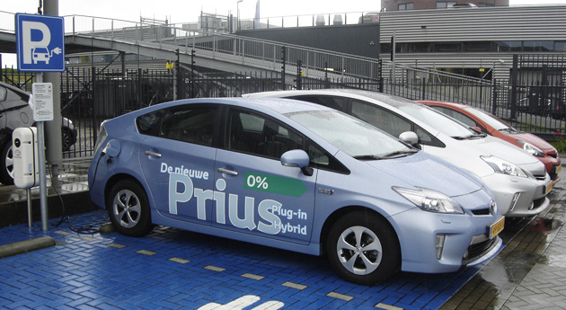 Toyota Prius plug-in parked in the Netherlands