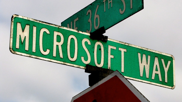 Microsoft Way sign at the company's Redmond campus