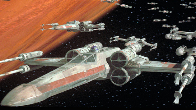 X-Wings and Y-Wings at Star Wars' Battle of Yavin