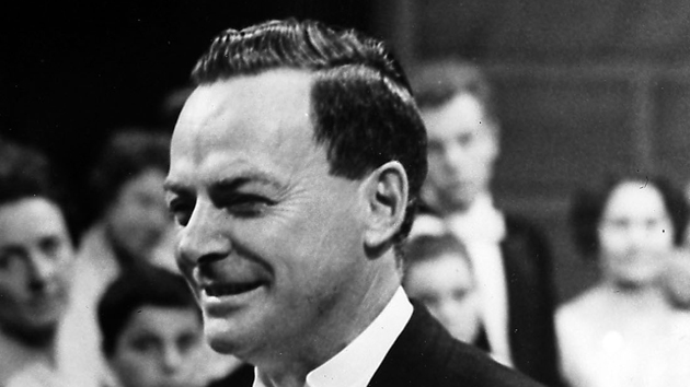 Professor Richard Feynman accepts his Nobel Prize in 1965