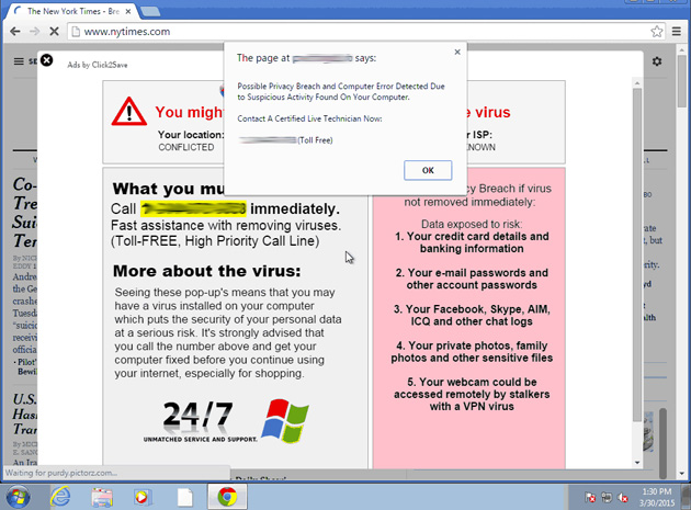 An example of ad injector malware in Chrome