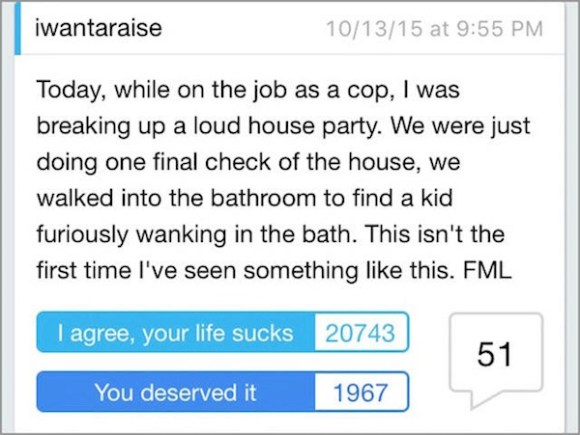 worst cases of fml in history, worst fml stories, cop fml