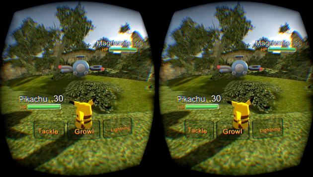 Il gioco di Pokémon della spaccatura dellocchio vi lascia gettare Pokéballs in VR