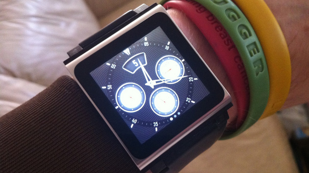 iPod nano used as a pseudo-smartwatch