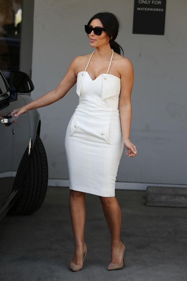 Kim Kardashian Wears Wedding Worthy White For Bridal