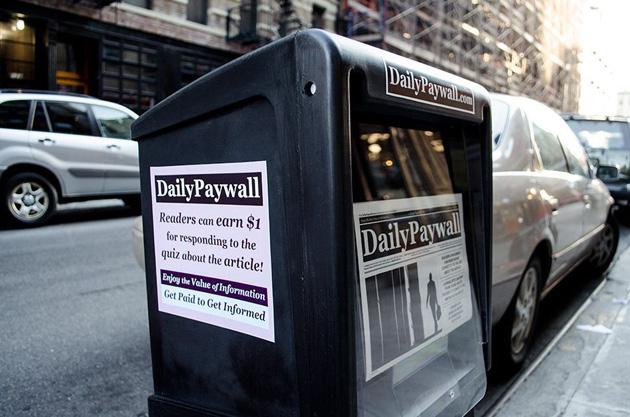 Lartista vi paga per leggere le notizie nascosto dietro i paywalls online