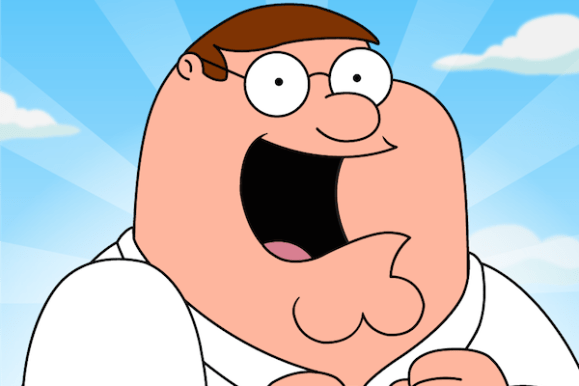 worst tv fathers, peter griffin family guy